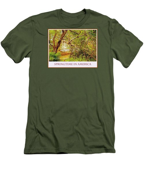 Men's T-Shirt (Slim Fit) featuring the photograph Dogwood Tree In The Forest Spring by A Gurmankin