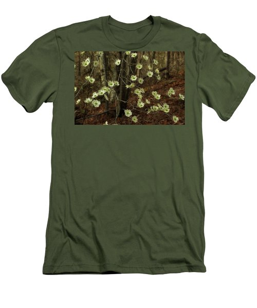 Men's T-Shirt (Slim Fit) featuring the photograph Dogwoods In The Spring by Mike Eingle