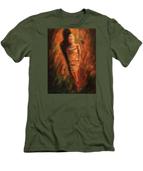 Men's T-Shirt (Slim Fit) featuring the painting Doll by Randol Burns