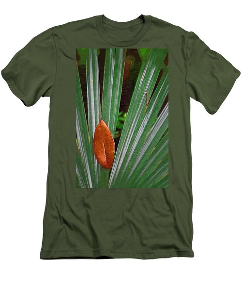 Men's T-Shirt (Slim Fit) featuring the photograph Don't Leaf by Donna Bentley
