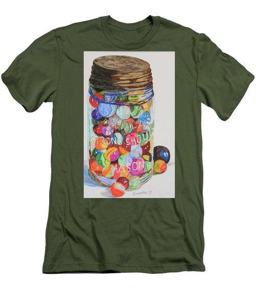 Don't Lose Your Marbles Men's T-Shirt (Athletic Fit)