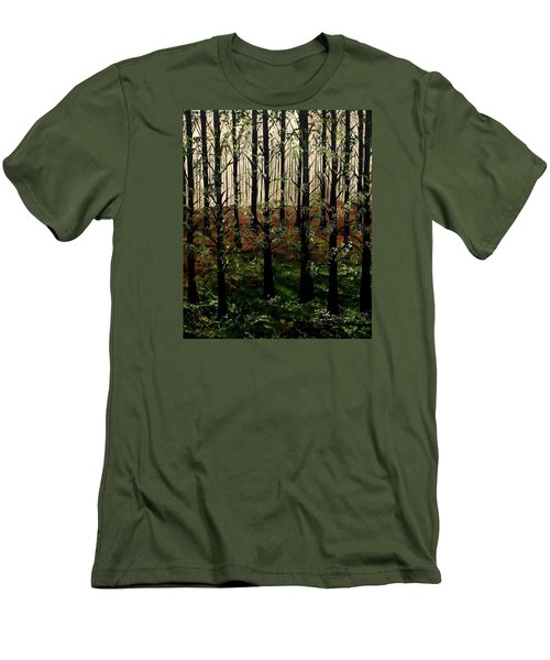 Don't Touch Down Men's T-Shirt (Slim Fit) by Lisa Aerts