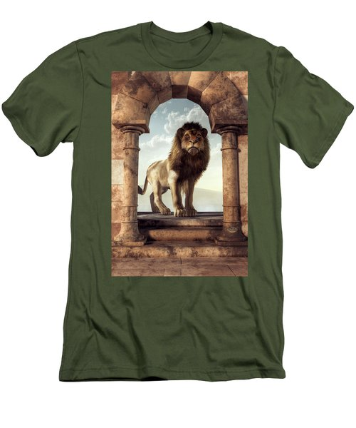 Door To The Lion's Kingdom Men's T-Shirt (Athletic Fit)