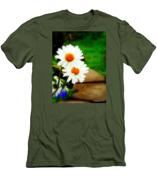 Double Daisy Men's T-Shirt (Athletic Fit)