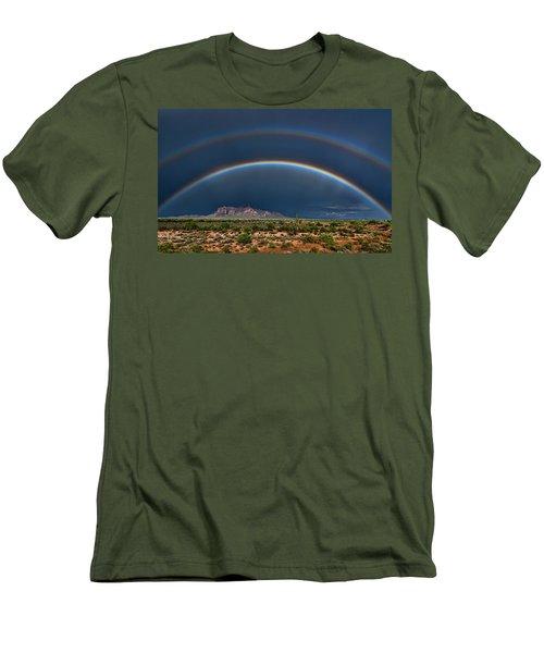 Men's T-Shirt (Athletic Fit) featuring the photograph Double Rainbow  by Saija Lehtonen