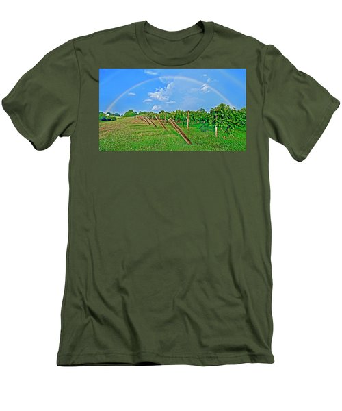Double Rainbow Vineyard, Smith Mountain Lake Men's T-Shirt (Athletic Fit)