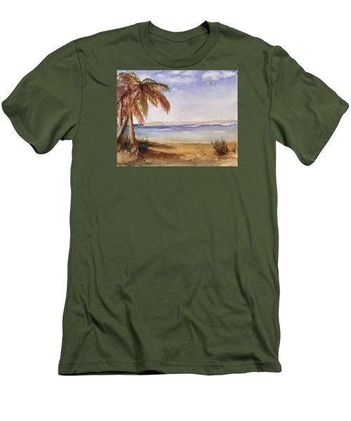 Down By The Sea Men's T-Shirt (Slim Fit) by Heidi Patricio-Nadon