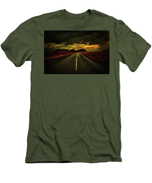 Men's T-Shirt (Slim Fit) featuring the photograph Down The Road by Scott Mahon