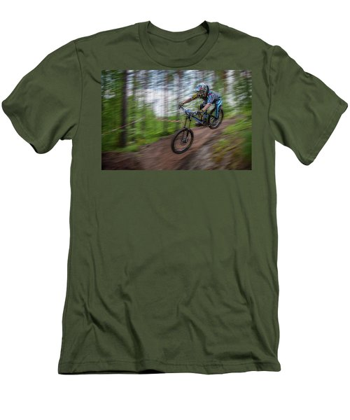 Downhill Race Men's T-Shirt (Athletic Fit)