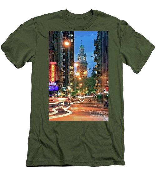 Men's T-Shirt (Slim Fit) featuring the photograph Downtown by Bernardo Galmarini