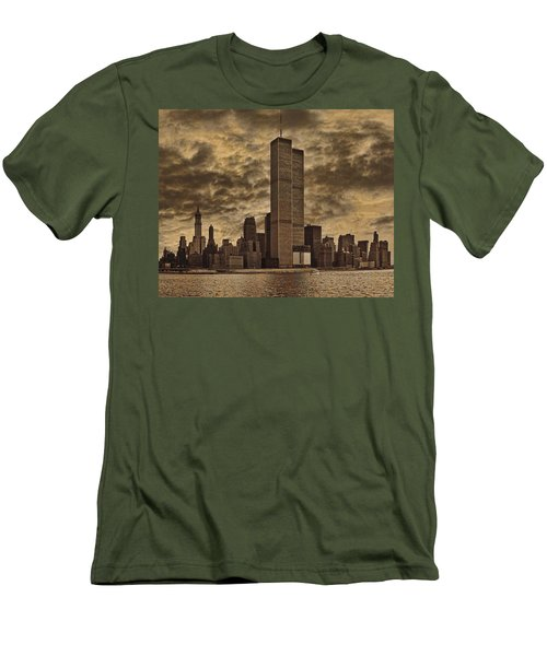 Downtown Manhattan Circa Nineteen Seventy Nine  Men's T-Shirt (Slim Fit) by Chris Lord
