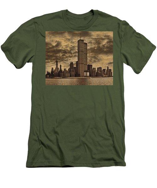 Downtown Manhattan Circa Nineteen Seventy Nine  Men's T-Shirt (Athletic Fit)