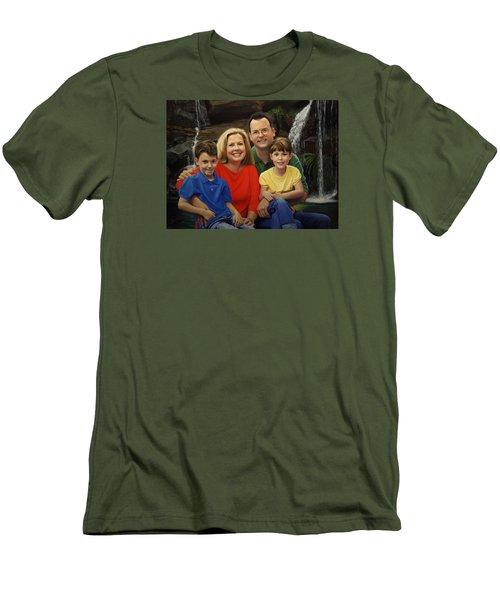 Dr. Devon Ballard And Family Men's T-Shirt (Slim Fit) by Glenn Beasley