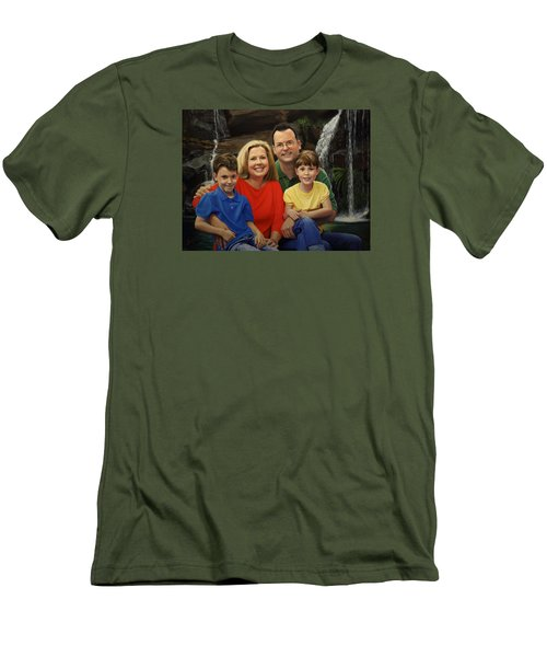 Dr. Devon Ballard And Family Men's T-Shirt (Slim Fit)