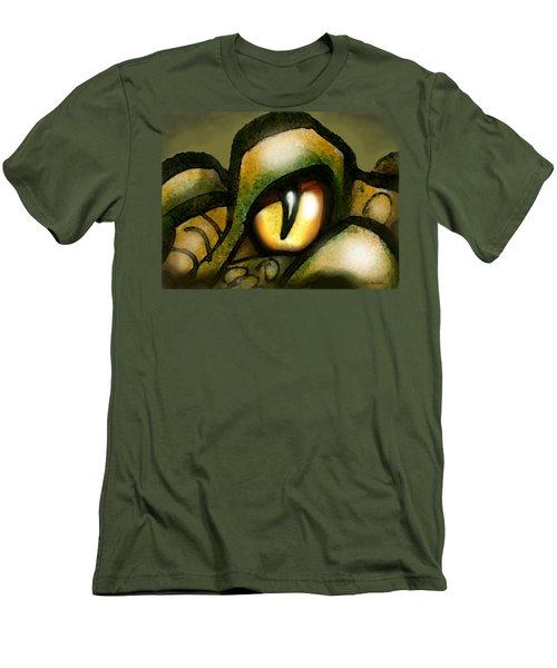Dragon Eye Men's T-Shirt (Slim Fit) by Kevin Middleton