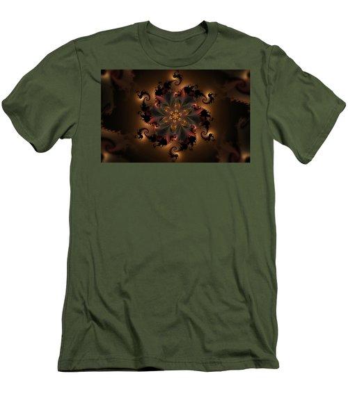 Dragon Flower Men's T-Shirt (Slim Fit) by GJ Blackman