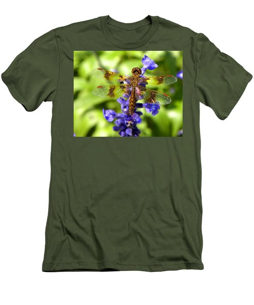 Men's T-Shirt (Slim Fit) featuring the photograph Dragonfly by Sandi OReilly