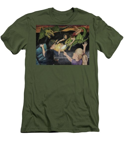 Dragons From The Train Men's T-Shirt (Athletic Fit)