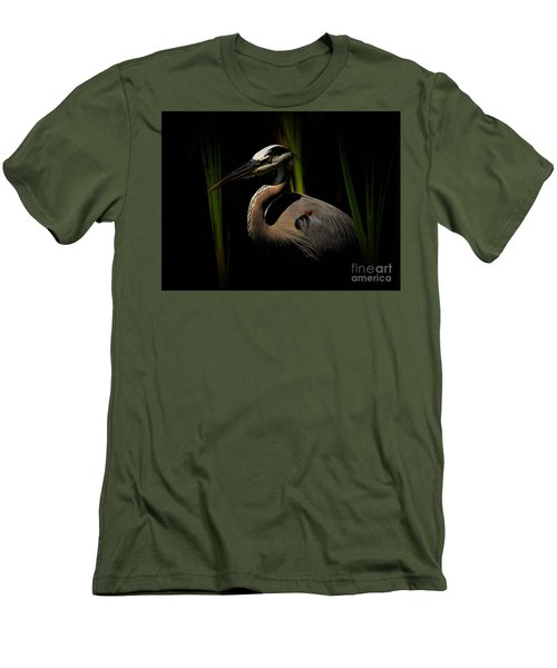 Dramatic Heron Men's T-Shirt (Slim Fit) by Pamela Blizzard