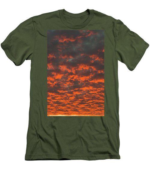 Men's T-Shirt (Slim Fit) featuring the photograph Dramatic Sunset by Hans Engbers