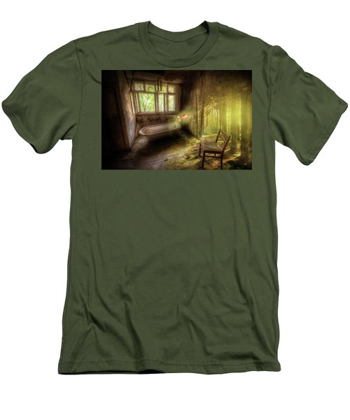 Men's T-Shirt (Slim Fit) featuring the digital art Dream Bathtime by Nathan Wright