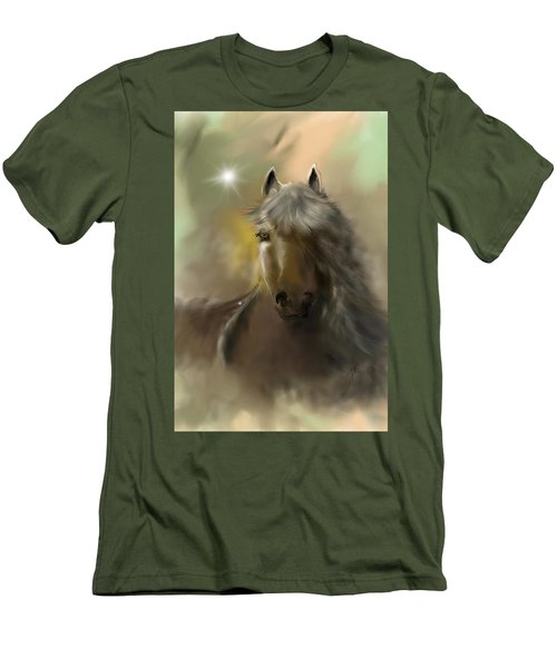 Men's T-Shirt (Athletic Fit) featuring the digital art Dream Horse by Darren Cannell