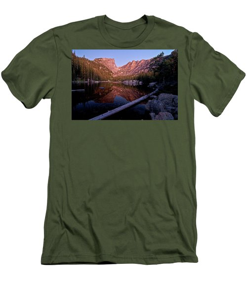 Men's T-Shirt (Athletic Fit) featuring the photograph Dream Lake by Gary Lengyel