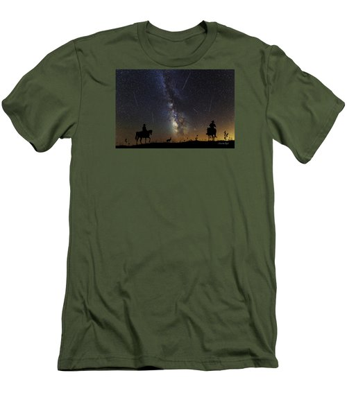 Dream Ride At Magic Time Men's T-Shirt (Athletic Fit)