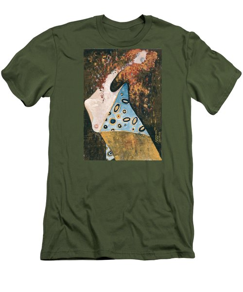 Men's T-Shirt (Slim Fit) featuring the painting Dreaming by Maya Manolova