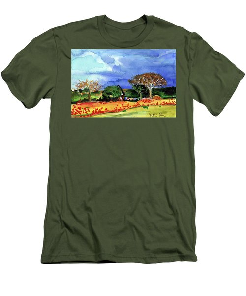 Men's T-Shirt (Athletic Fit) featuring the painting Dreaming Of Malawi by Dora Hathazi Mendes
