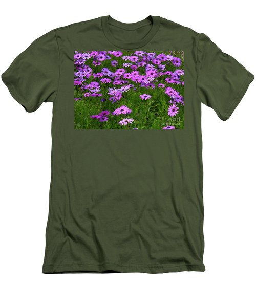 Dreaming Of Purple Daisies  Men's T-Shirt (Athletic Fit)