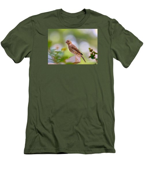 Men's T-Shirt (Slim Fit) featuring the photograph Dreamy Finch by Lisa L Silva