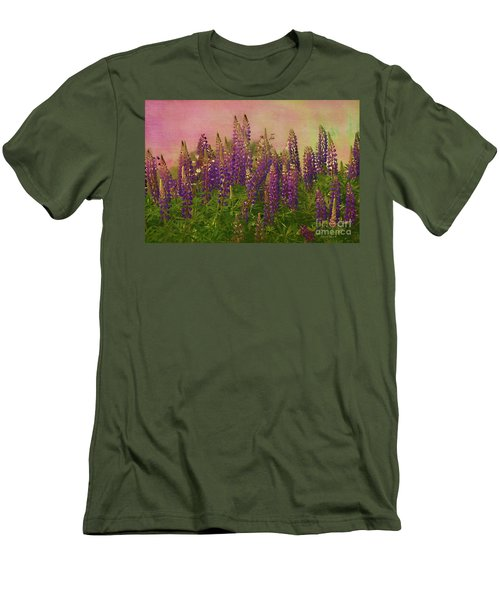 Dreamy Lupin Men's T-Shirt (Slim Fit) by Deborah Benoit