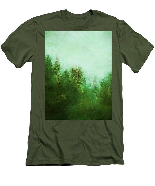 Men's T-Shirt (Slim Fit) featuring the digital art Dreamy Spring Forest by Klara Acel