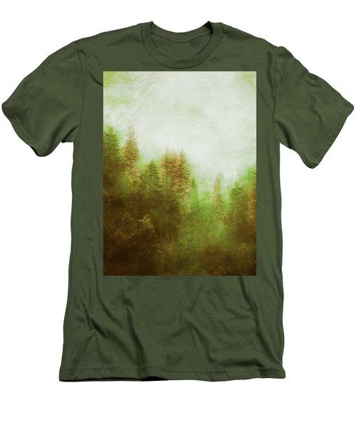 Men's T-Shirt (Slim Fit) featuring the digital art Dreamy Summer Forest by Klara Acel