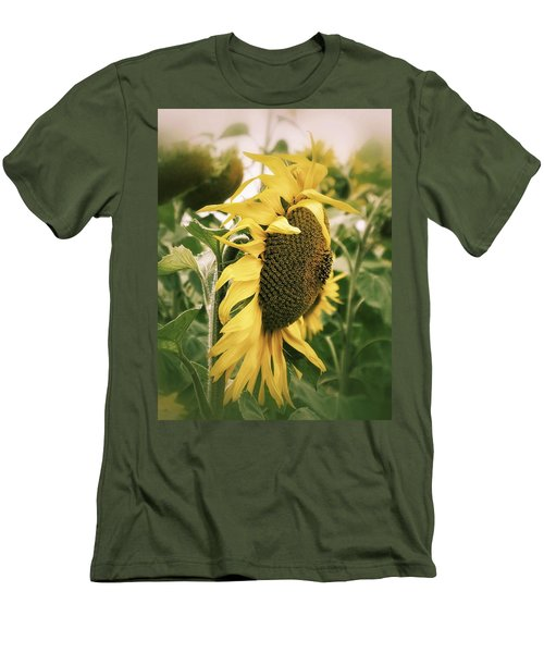 Men's T-Shirt (Slim Fit) featuring the photograph Dreamy Sunflower by Karen Stahlros