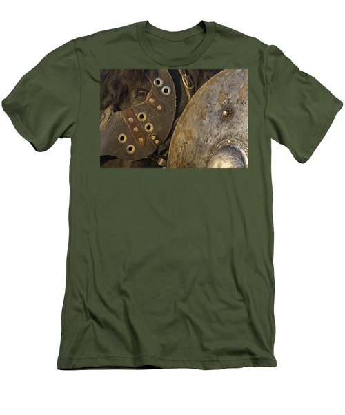 Men's T-Shirt (Slim Fit) featuring the photograph Dressed For Battle D6722 by Wes and Dotty Weber
