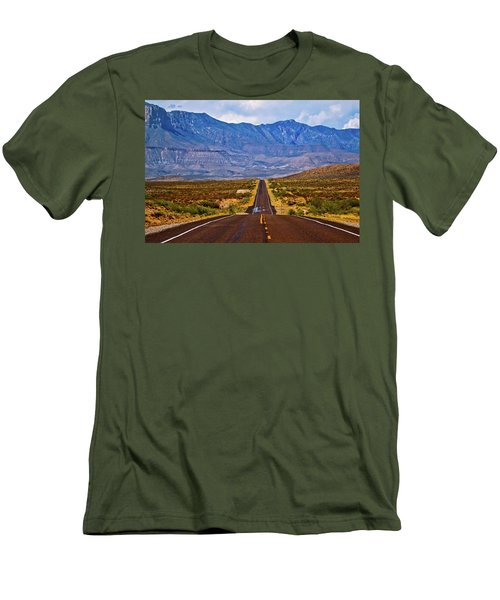 Driving To The Blue Men's T-Shirt (Athletic Fit)