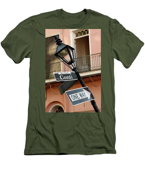 Drunk Street Sign French Quarter Men's T-Shirt (Athletic Fit)