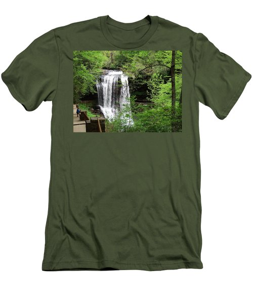 Dry Falls In The Spring Men's T-Shirt (Slim Fit) by Cathy Harper