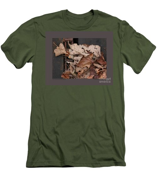 Dry Leaves And Old Steel-ii Men's T-Shirt (Slim Fit) by Patricia Overmoyer