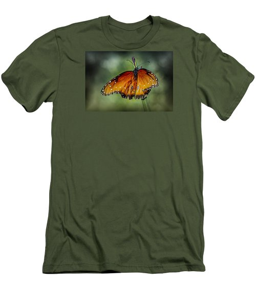 Men's T-Shirt (Slim Fit) featuring the photograph Drying Wings by Elaine Malott