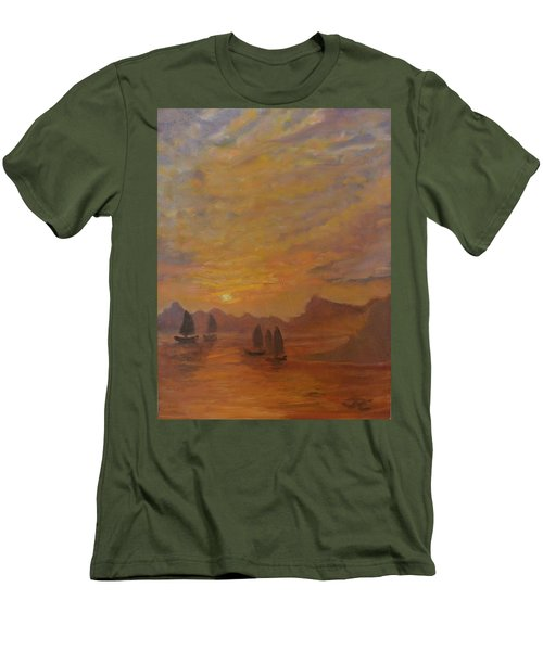 Men's T-Shirt (Slim Fit) featuring the painting Dubrovnik by Julie Todd-Cundiff