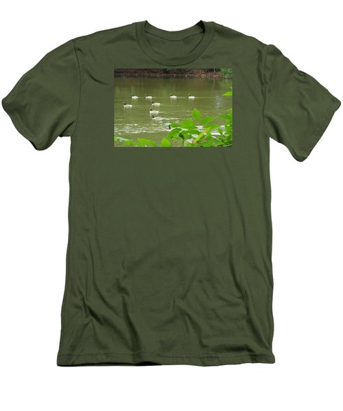 Men's T-Shirt (Slim Fit) featuring the photograph Duck Nation  by Jake Hartz