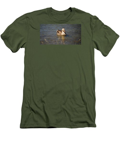 Duck On Lake Men's T-Shirt (Athletic Fit)