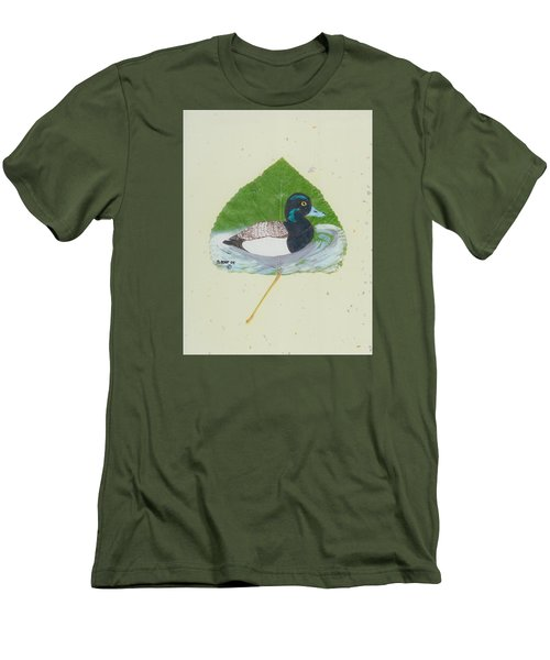 Duck On Pond #2 Men's T-Shirt (Slim Fit) by Ralph Root
