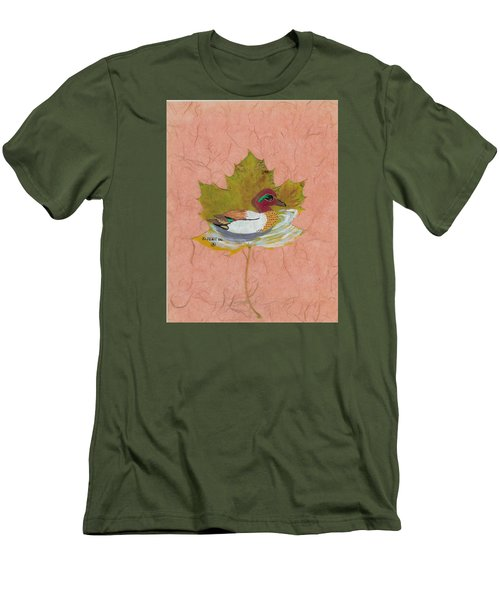 Duck On Pond Men's T-Shirt (Slim Fit) by Ralph Root