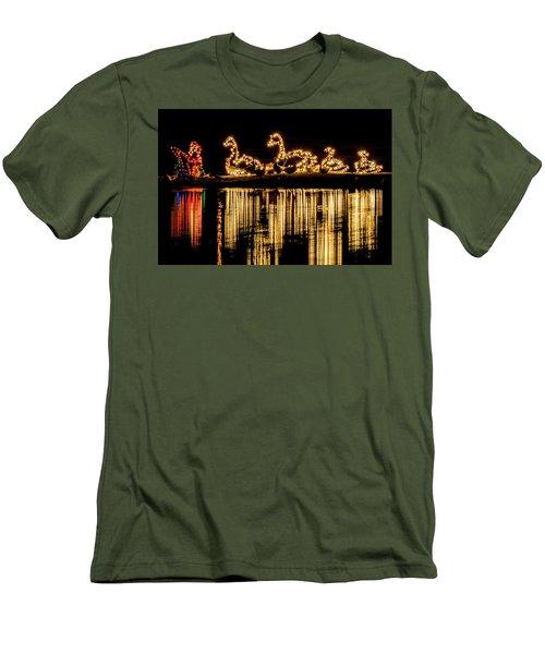 Duck Pond Christmas Men's T-Shirt (Athletic Fit)