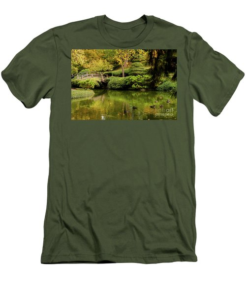 Men's T-Shirt (Slim Fit) featuring the photograph Ducks In Summertime by Iris Greenwell