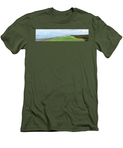 Dune At Fort Stevens Men's T-Shirt (Slim Fit) by Angi Parks